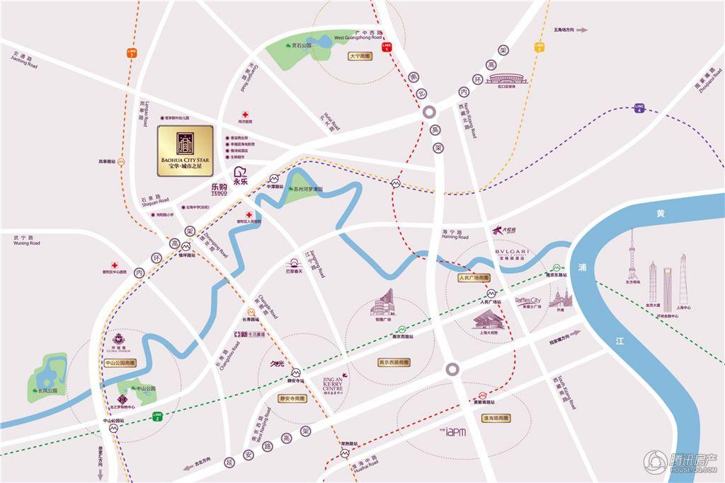宝华城市之星 交通图
