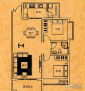 博望龙亭麟德公馆2室2厅1卫94平方米户型图