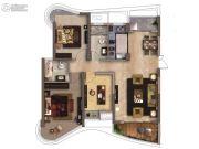 南昌铜锣湾广场3室2厅2卫110平方米户型图