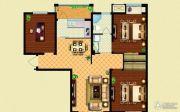 华泽天下 高层3室2厅1卫113平方米户型图