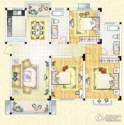 祥育苑3室2厅2卫134平方米户型图