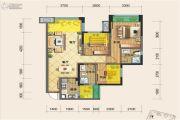源上湾国际社区3期D区3室2厅2卫92平方米户型图