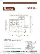 幸福家园・�h珑湖3室2厅2卫118平方米户型图