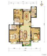 中国铁建・北京山语城3室2厅2卫138平方米户型图