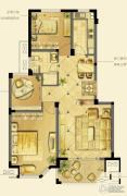 诚河新旅城2室2厅1卫89平方米户型图