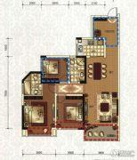 领地・国际公馆2室2厅2卫89平方米户型图