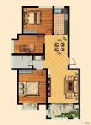 福泰御河湾3室2厅1卫119平方米户型图