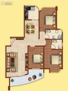 富华棕榈城3室2厅2卫0平方米户型图