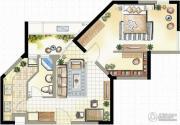 高成天鹅湖2室1厅1卫74--78平方米户型图