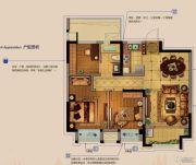 金科财富商业广场3室2厅1卫93平方米户型图