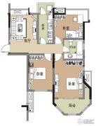 江雁德水香林3室1厅1卫83平方米户型图
