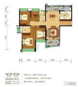 雅居乐英伦首府4室2厅2卫140平方米户型图
