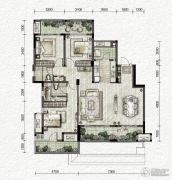万科金色悦城3室2厅2卫112平方米户型图