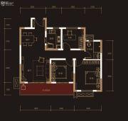 奥克斯城市之光3室2厅1卫99平方米户型图