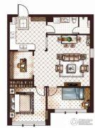 第九频道3室2厅1卫101平方米户型图