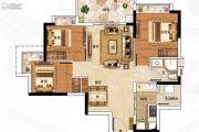 保利翡翠山3室2厅2卫89平方米户型图