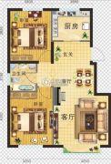 金地・红大蓝湾2室2厅1卫86平方米户型图