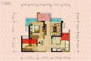 华邑阳光里3室2厅1卫65平方米户型图