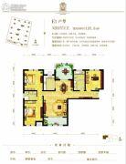 东方星城3室2厅2卫137平方米户型图