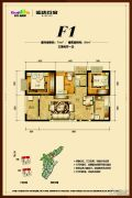 俊发盛唐城3室2厅1卫74--94平方米户型图