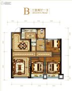 金科美邻汇3室2厅1卫96平方米户型图