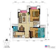 三盛都会城2室2厅1卫67--74平方米户型图