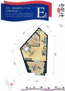 恒泰・时间海1室1厅0卫57平方米户型图