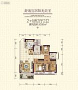 明泰城3室2厅2卫102平方米户型图
