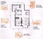 金色时光2室2厅1卫87平方米户型图