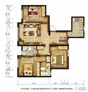胜古誉园3室2厅1卫114平方米户型图