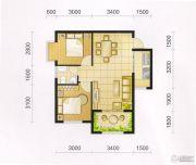 东城・华府2室2厅1卫70平方米户型图