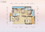 汇园国际2期天荟3室2厅2卫0平方米户型图