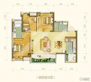中海右岸3室2厅2卫90--103平方米户型图