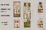 恒佳太阳城6室3厅4卫208平方米户型图
