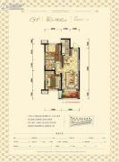 沈阳雅居乐花园2室2厅1卫88--90平方米户型图