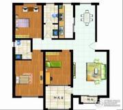 福郡雅居3室2厅2卫130平方米户型图
