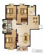 北城国际3室2厅2卫146平方米户型图