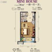 虎门碧桂园1室1厅1卫0平方米户型图