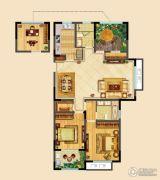 高成天鹅湖3室2厅2卫127平方米户型图