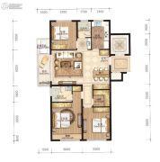 永强朗城公馆3室2厅2卫120平方米户型图