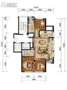 绿城・风华园3室2厅1卫98平方米户型图