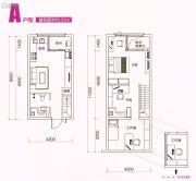 顺德绿地中心0室0厅0卫53平方米户型图