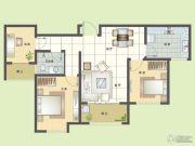 纯翠3室2厅1卫96平方米户型图