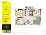 阳光100凤凰街3室2厅1卫89平方米户型图