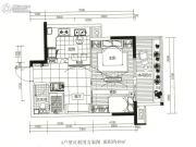 龙江云山墅2室1厅1卫48平方米户型图