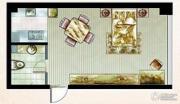 米拉公寓1室1厅1卫40平方米户型图