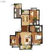 光明领御3室2厅2卫137平方米户型图