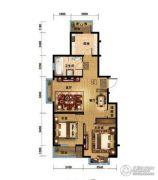 金色河畔2室2厅1卫0平方米户型图