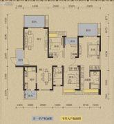 保利国际城翡丽湾3室2厅1卫139平方米户型图