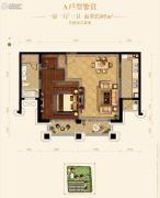 路劲蠡湖院子1室1厅1卫85平方米户型图